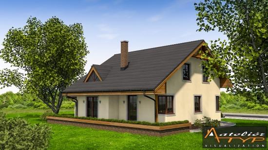 Casa cu 4 dormitoare vedere laterala