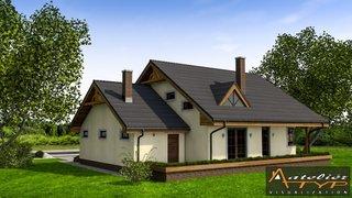 Casa cu 4 dormitoare vedere spate