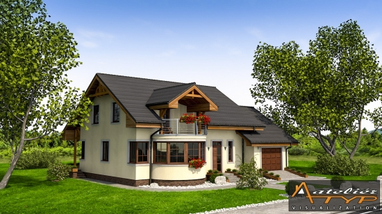 Casa de vis medie cu mansarda si garaj