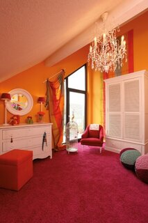 Dormitor mic la mansarda