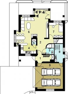 Casa cu 2 dormitor mic la parter