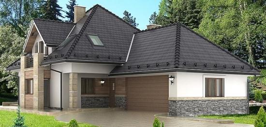Casa de vis cu mansarda - un proiect perfect pentru familiile numeroase