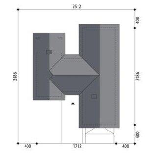 Plan amplasare casa cu parter cu forma de H