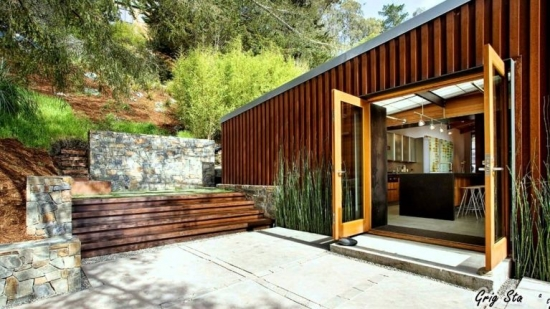 Casa moderna din container vedere exterior