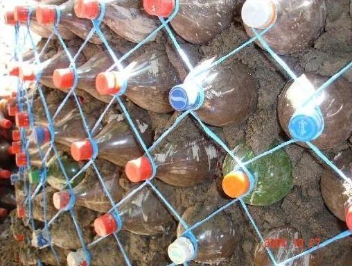 Zid din sticle de plastic