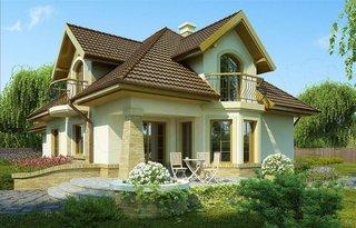 Casa cu terasa in lateral partial acoperita