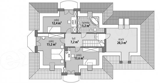Plan etaj modificat pentru garaj mai mare