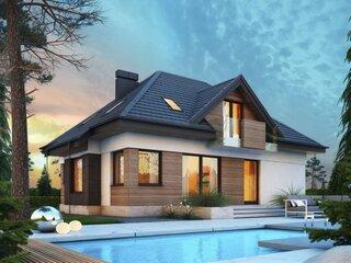 Casa mdoerna cu mansarda si piscina