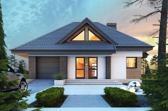 Casa familiala moderna ce foloseste la maxim spatiul de 110 metri (PROIECT DETALIAT)