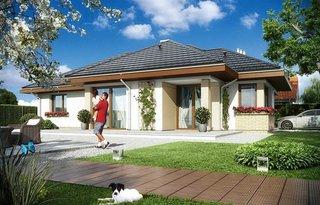 Vedere spate casa iesire spre terasa