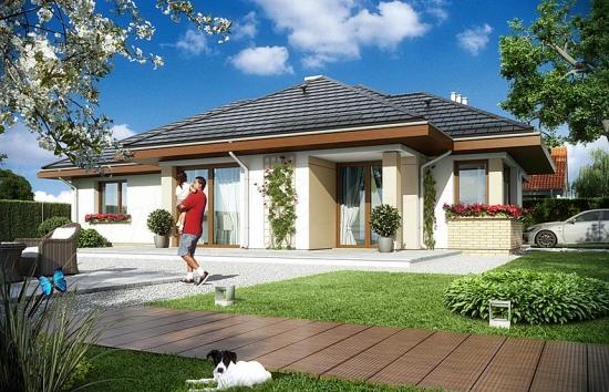 Vedere spate casa iesire spre terasa for Proiecte case cu etaj si terasa