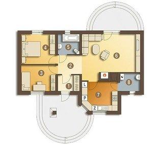 Casa doar cu parter si doua dormitoare