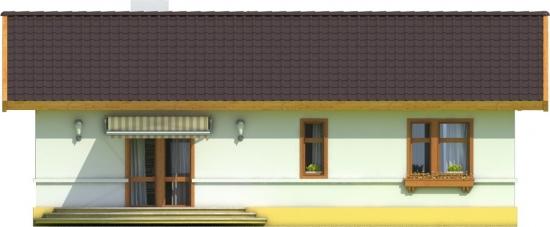 Fatada laterala cu iesire catre terasa