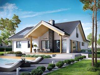 Casa cu terasa acoperita