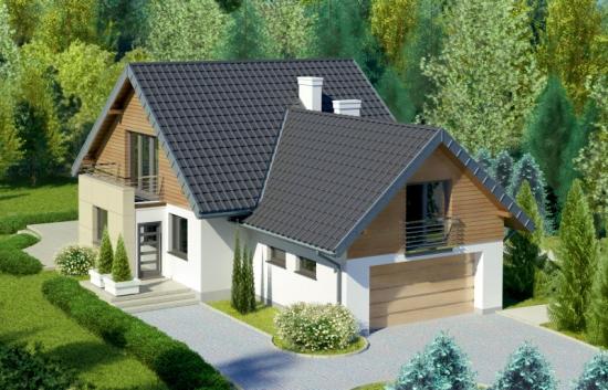 Casa cu subsol si mansarda