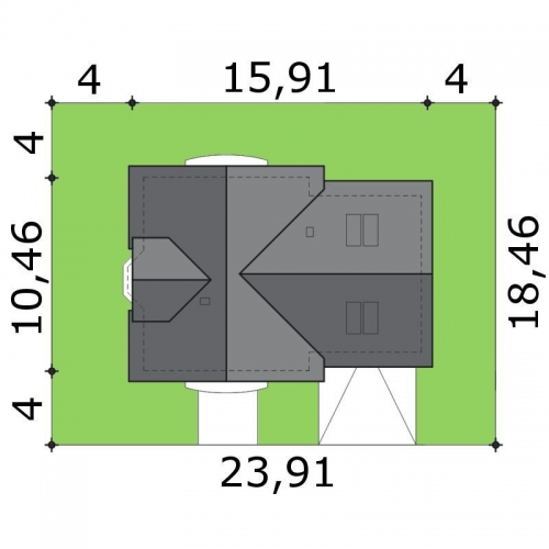 Dimensiuni teren casa cu 4 dormitoare