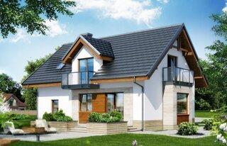 Casa cu mansarda proiect modern