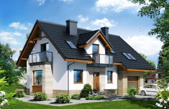 Casa cu mansarda suprafata utila 118 mp