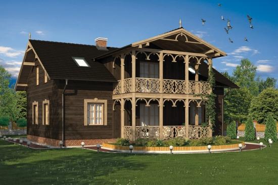 Casa neagra din lemn