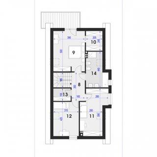 Plan mansarda casa cu 3 camere