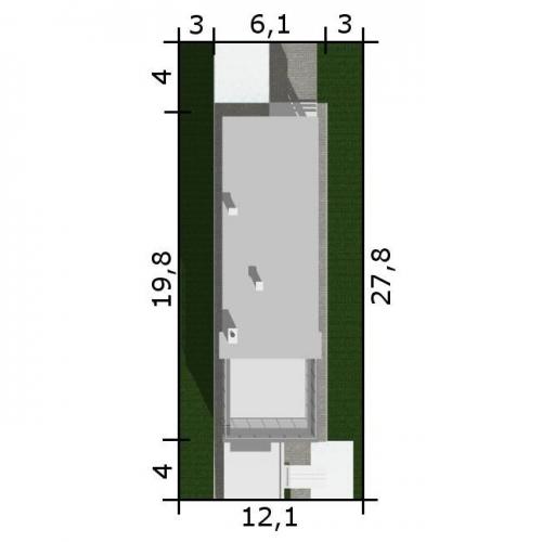 Dimensiuni teren casa ingusta cu 3 dormitoare
