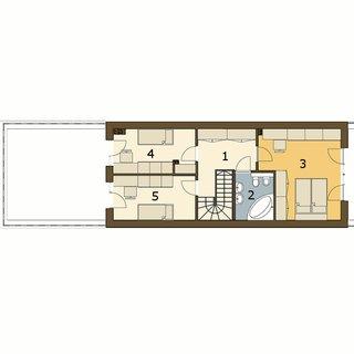 Plan mansarda casa ingusta cu 3 dormitoare