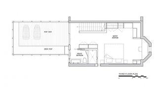 Plan etaj doi cu terasa pe acoperis