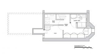 Plan subsol casa ingusta