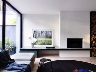 Living contemporan cu design modern minimalist