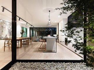 Parter open space cu design modern cu living si dinning
