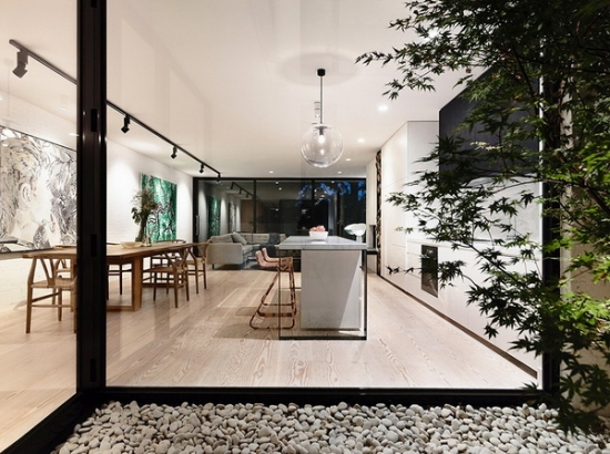 Parter open space cu design modern cu living si dinning