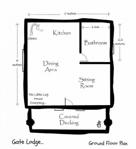 Schita plan parter casa mica din lemn