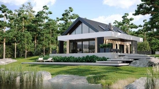 Casa moderna cu mansarda