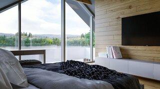 Dormitor cu ferestre foarte mari