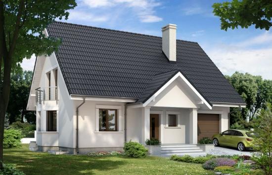 Proiect de casa mare si moderna cu subsol si mansarda