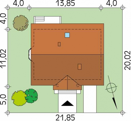 Dimensiuni teren casa amenajata pe 3 niveluri