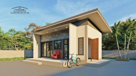 Uite proiectul unei case mici de doar 28 mp cu un dormitor - poate fi chiar casa la care visezi de atata vreme