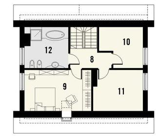 Plan mansarda casa mica cu garaj