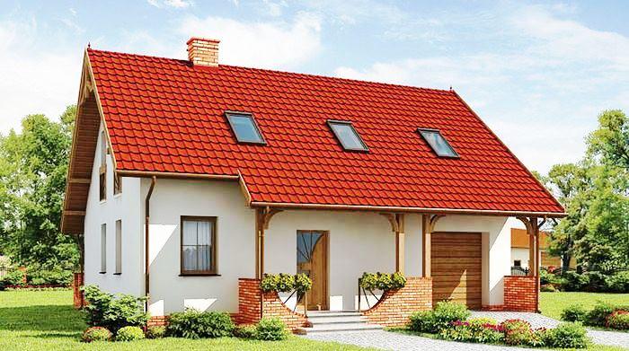 Casa mica cu mansarda si garaj - PROIECT 2021 super accesibil