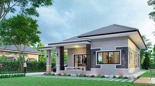 Casa mica cu parter pentru familii de 4 persoane