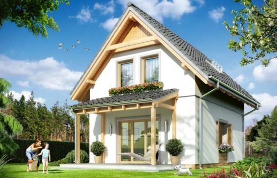 Proiect de casa mica in stil englezesc