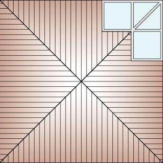 Schema acoperis din tabla cu portiune de sticla