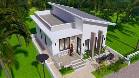 Casa mica de 50 mp cu 2 dormitoare
