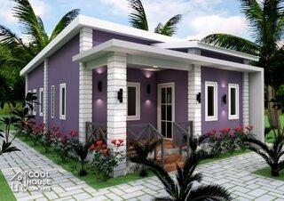 Casa simpla de culoare mov
