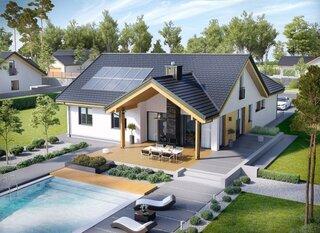 Casa cu mansarda in forma de T