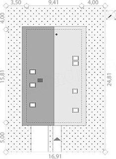 Proiect casa cu latime de 9.40 metri
