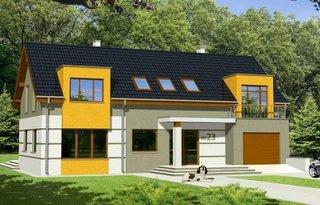 Proiect casa moderna cu etaj suprafata 207 mp