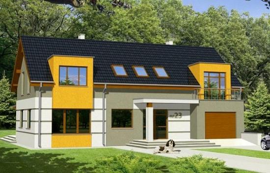 Casa moderna cu etaj - proiect atractiv si functional