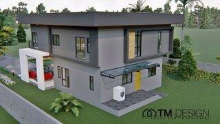 Casa moderna cu 2 etaje