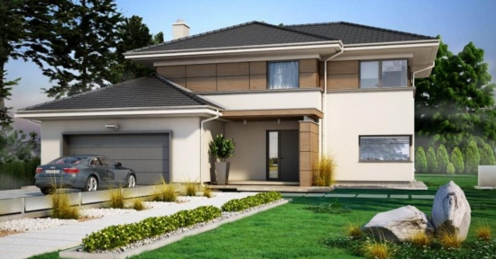 Casa moderna cu garaj dublu si etaj